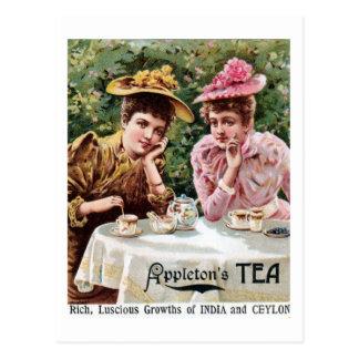 Anuncio del té del Victorian la India y de Ceilán Postales