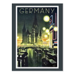 Anuncio del viaje de Alemania (Berlín) Postal