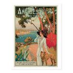 Anuncio del viaje de Antibes Francia del vintage Tarjetas Postales