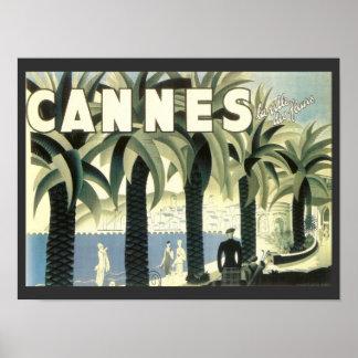 Anuncio del viaje de Cannes del vintage Póster