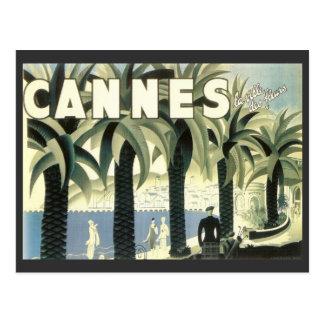 Anuncio del viaje de Cannes del vintage Postal
