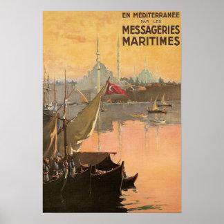 Anuncio del viaje de Constantinopla del vintage Posters