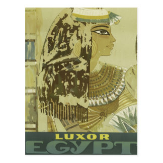 Anuncio del viaje de Luxor Egipto del vintage Postales
