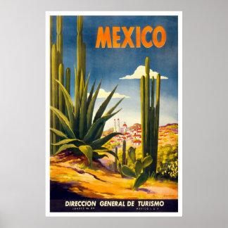 Anuncio del viaje de México del vintage Póster