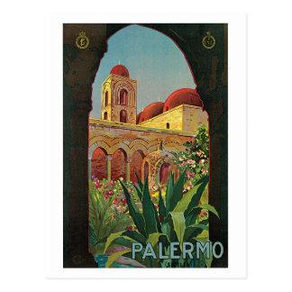 anuncio del viaje de Palermo Sicilia de los años 2 Postales