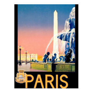 Anuncio del viaje de París del vintage Tarjetas Postales