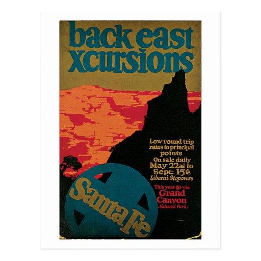 Anuncio del viaje de Santa Fe de los años 20 del v Tarjeta Postal