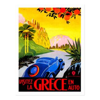 Anuncio del viaje del automóvil del vintage del ~  tarjetas postales