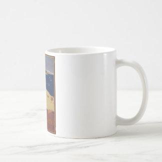 Anuncio del viaje del francés del vintage taza