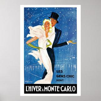 Anuncio del viaje del invierno de Monte Carlo del Impresiones