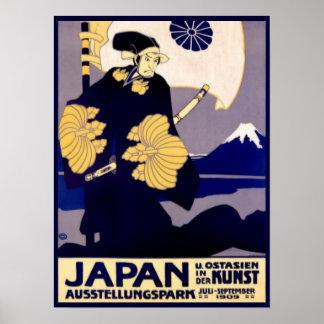 Anuncio del viaje del japonés del vintage impresiones