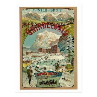 Anuncio del viaje del suizo de Grindelwald del vin Tarjeta Postal