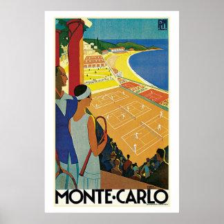 Anuncio del viaje del tenis de Monte Carlo del vin Impresiones