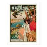 Anuncio del viaje del vintage de Antibes Francia Tarjetas Postales