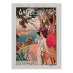 Anuncio del viaje del vintage de Antibes, Francia Postal