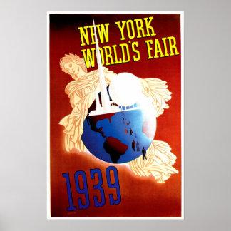 Anuncio del viaje del vintage de la feria de mundo poster