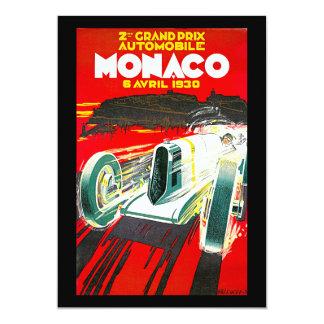 Anuncio del viaje del vintage de Monoco Grand Prix