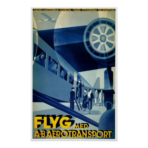 Anuncio del viaje del vintage del transporte del A Impresiones
