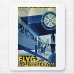Anuncio del viaje del vintage del transporte del A Alfombrillas De Ratones