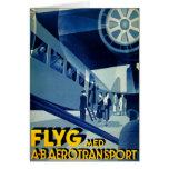 Anuncio del viaje del vintage del transporte del A Tarjetas