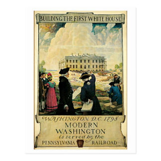 Anuncio del viaje del Washington DC del vintage Postal