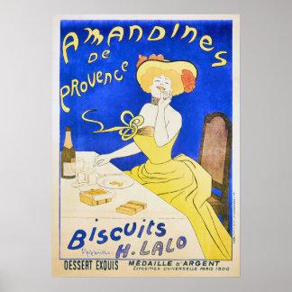Anuncio del vintage de Amandines de Provence Póster