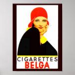 Anuncio del vintage de Belga de los cigarrillos Posters