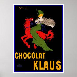 Anuncio del vintage de Cappiello - Chocolat Klaus Impresiones