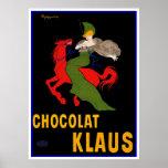 Anuncio del vintage de Cappiello - Chocolat Klaus Póster