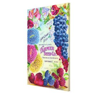 Anuncio del vintage de Farmers Seed Company Impresion De Lienzo
