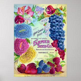 Anuncio del vintage de Farmers Seed Company Póster