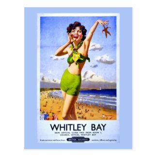 Anuncio del vintage de la bahía de Whitley Tarjeta Postal