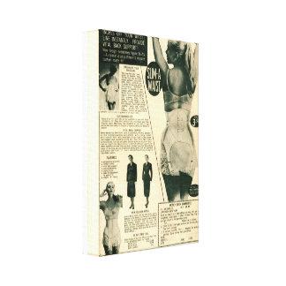 Anuncio del vintage de la Delgado-UNO-Cintura Impresión En Lienzo Estirada
