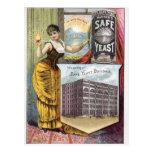 Anuncio del vintage de la levadura postales