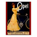 Anuncio del vintage de las bicicletas de Opel Tarjetas Postales