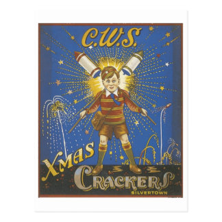 Anuncio del vintage de las galletas de Navidad de Postales