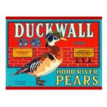 Anuncio del vintage de las peras de Hood River de  Postal