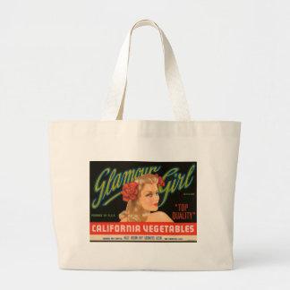 Anuncio del vintage de las verduras de California  Bolsa Tela Grande