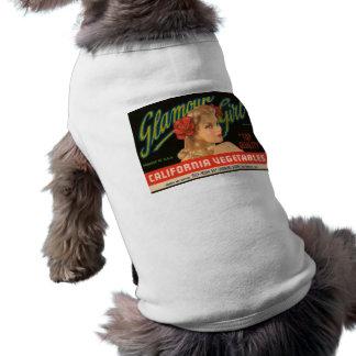 Anuncio del vintage de las verduras de California  Playera Sin Mangas Para Perro