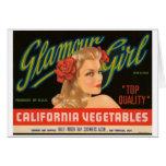 Anuncio del vintage de las verduras de California  Tarjetas