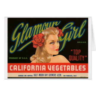 Anuncio del vintage de las verduras de California  Tarjeta De Felicitación