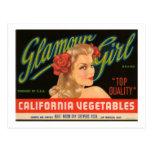 Anuncio del vintage de las verduras de California  Postal