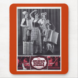 Anuncio del vintage de los chicas del acordeón alfombrillas de raton