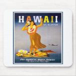 Anuncio del vintage de Mousepad-Hawaii Tapetes De Ratón