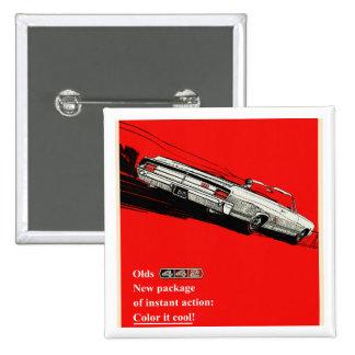 Anuncio del vintage de Oldsmobile 442 Pin Cuadrada 5 Cm