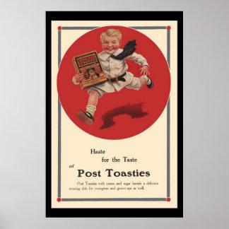 Anuncio del vintage de Toasties del poste Poster