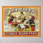 Anuncio del vintage del ~ de las medicinas de fami poster