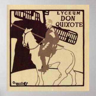 Anuncio del vintage del Don Quijote del teatro del Posters