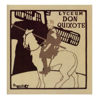 Anuncio del vintage del Don Quijote del teatro del Póster