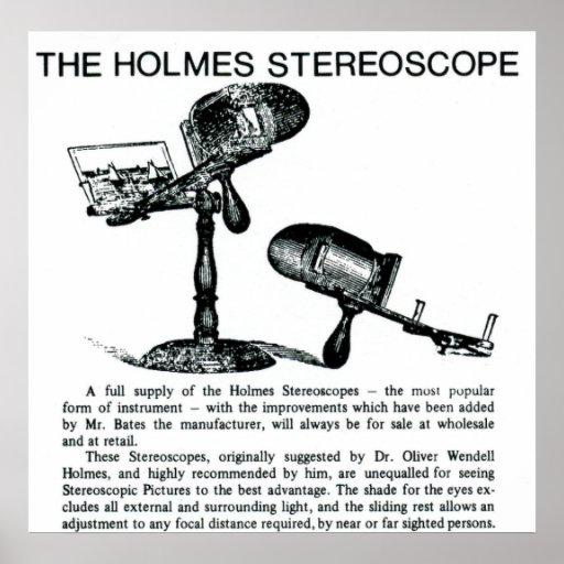 Anuncio del vintage del estereoscopio de Holmes Posters